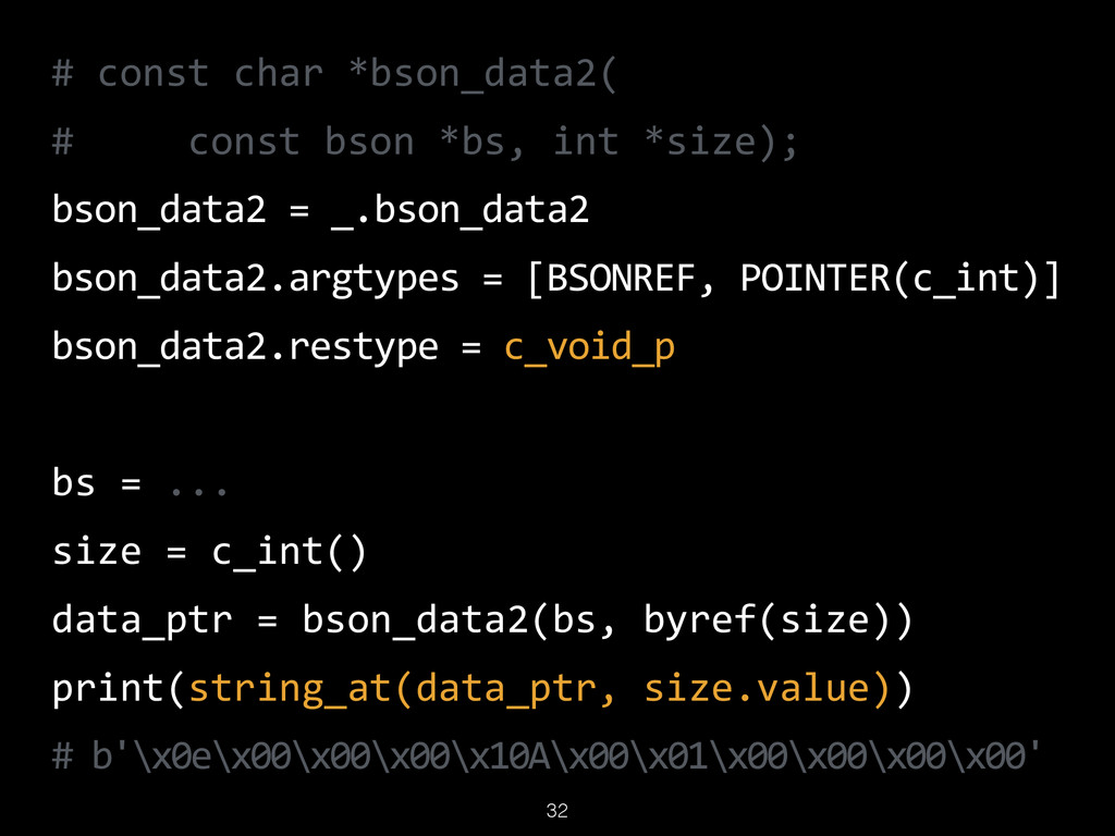 32 #  const  char  *bson_data2(   #          co...