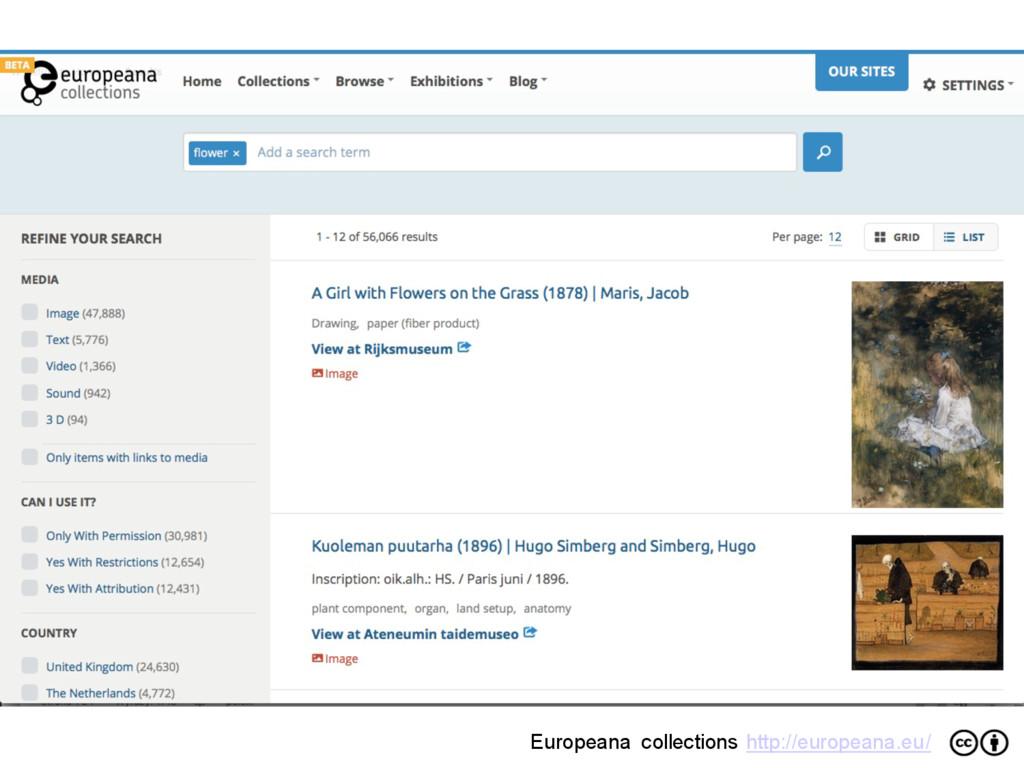 Europeana collections http://europeana.eu/