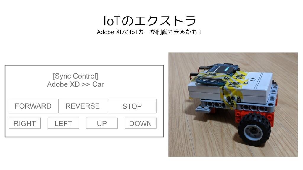 IoTのエクストラ Adobe XDでIoTカーが制御できるかも!