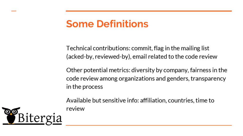 Some Definitions Technical contributions: commi...