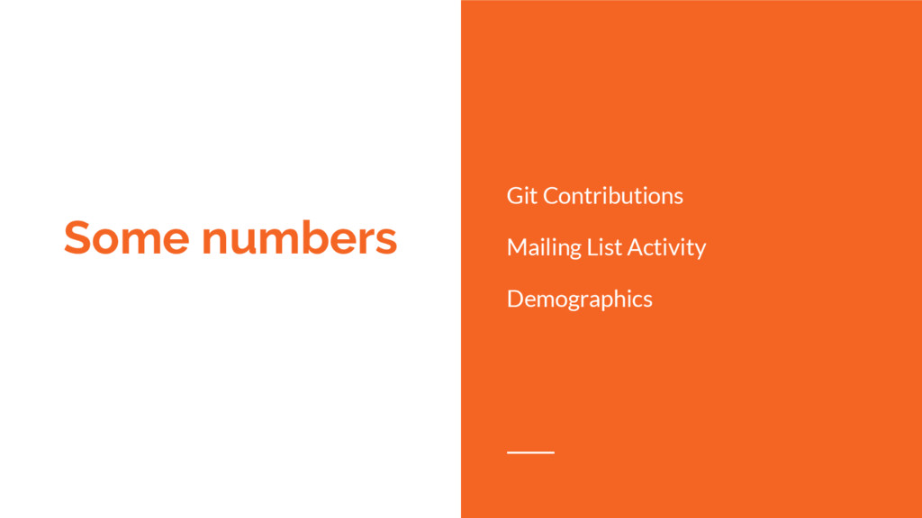 Some numbers Git Contributions Mailing List Act...