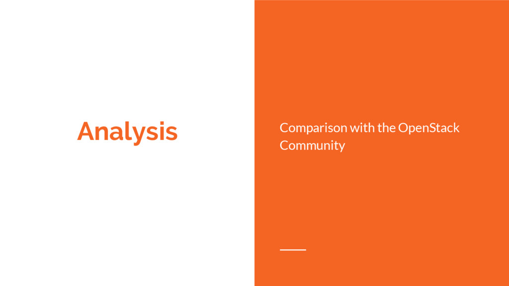 Analysis Comparison with the OpenStack Community