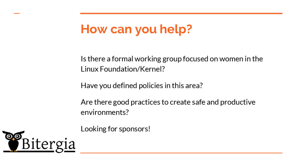 How can you help? Is there a formal working gro...