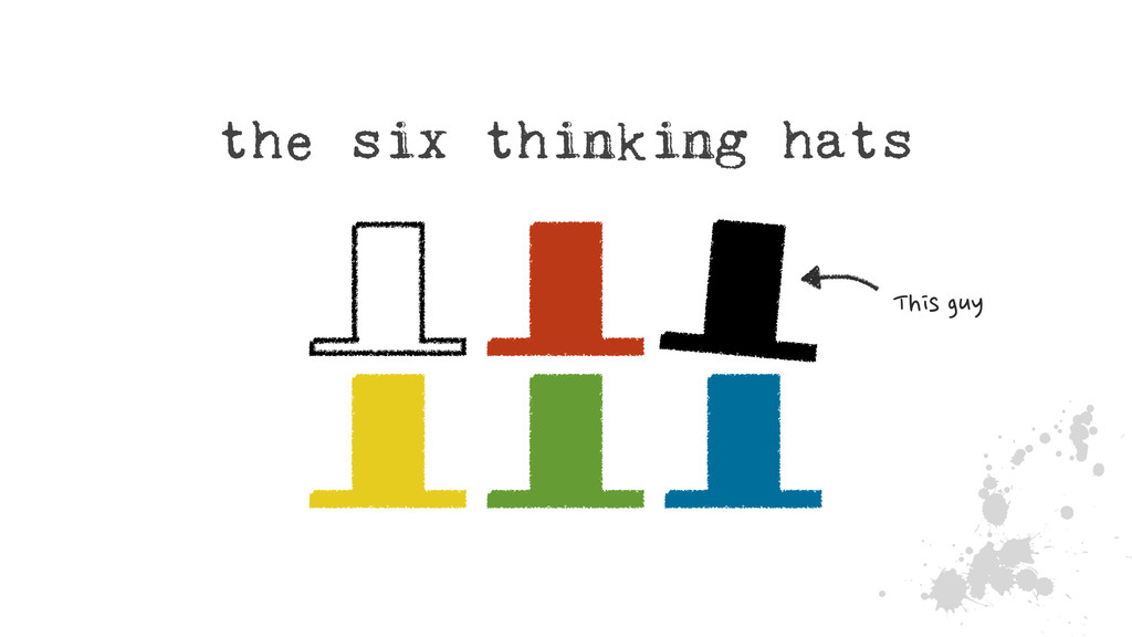 J the six thinking hats This