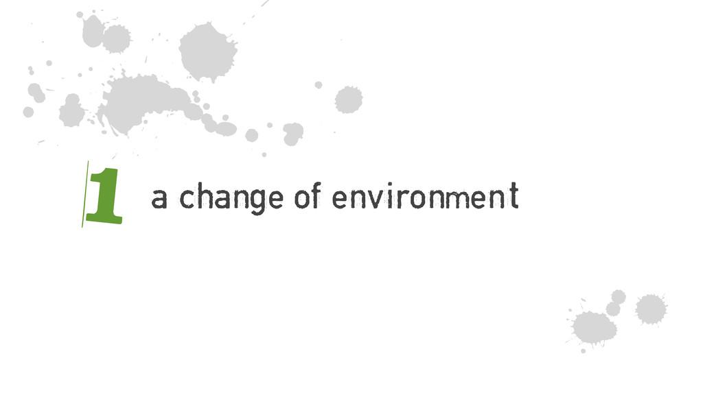 a change of environment 1 z m