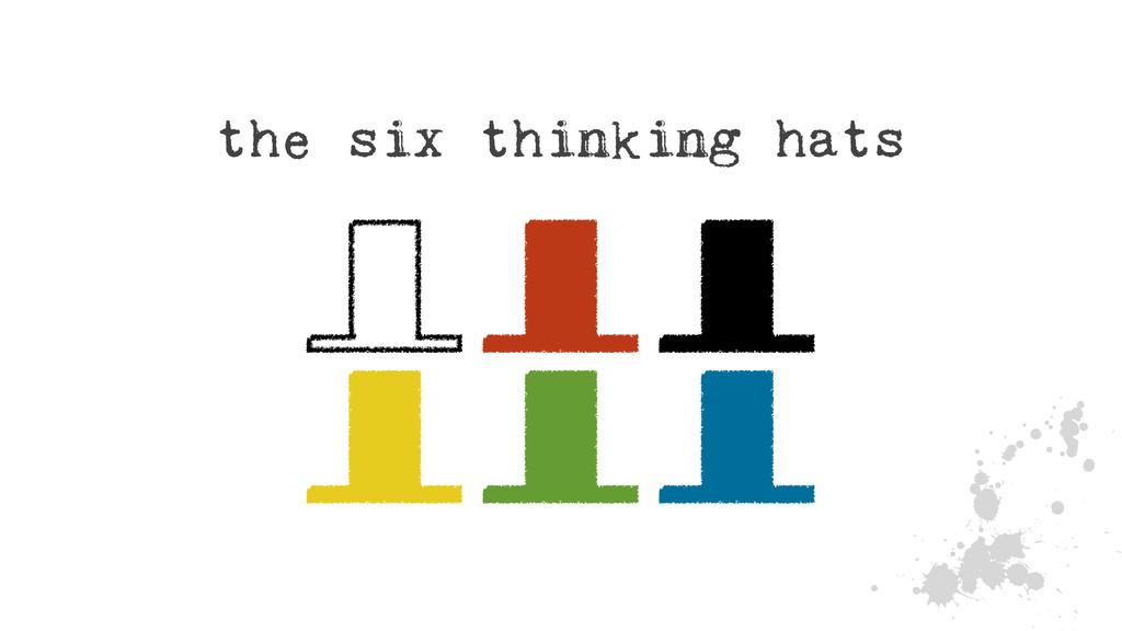 J the six thinking hats