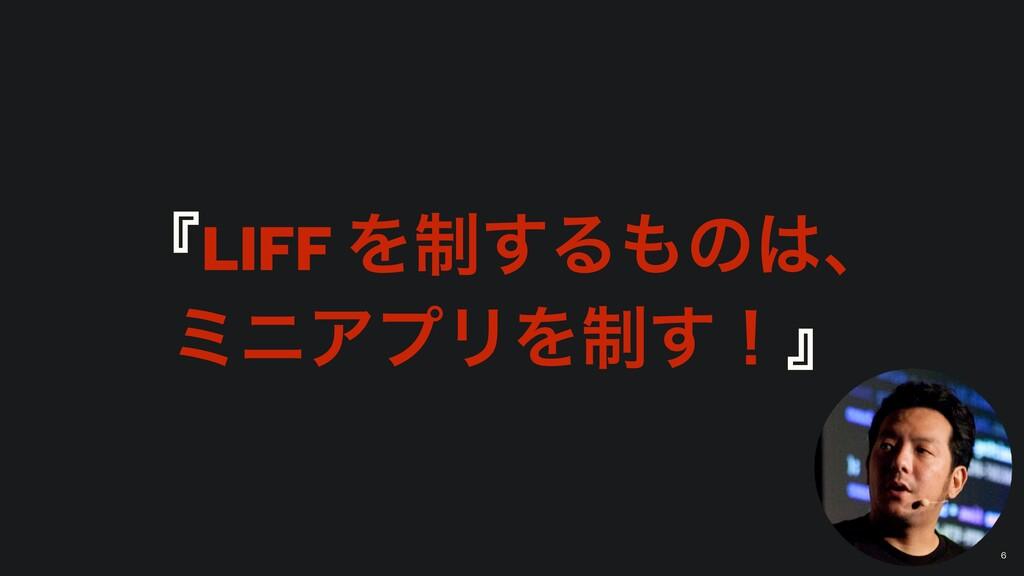 ʰLIFF Λ੍͢Δͷɺ ϛχΞϓϦΛ੍͢ʂʱ 6