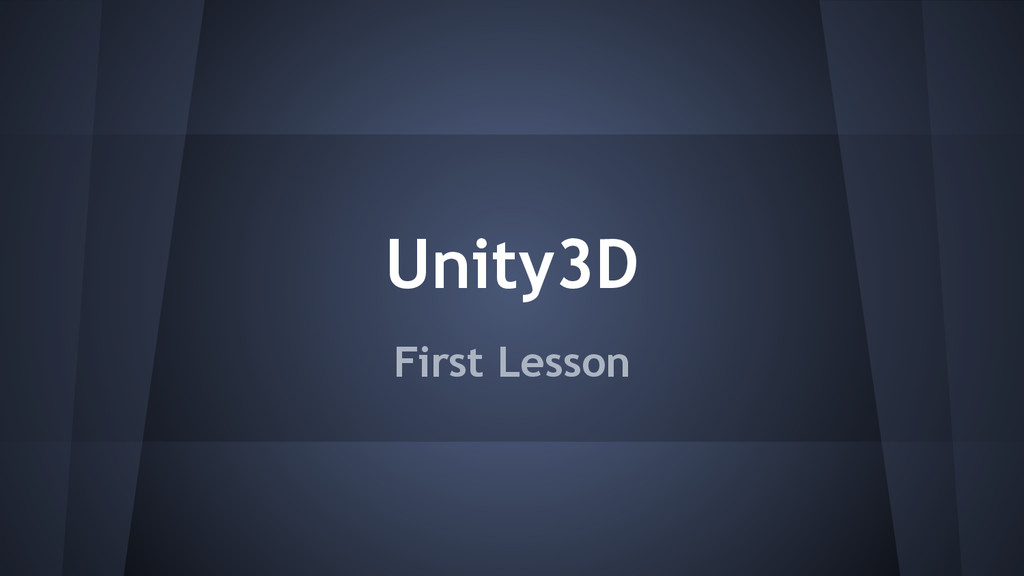 Unity3D First Lesson