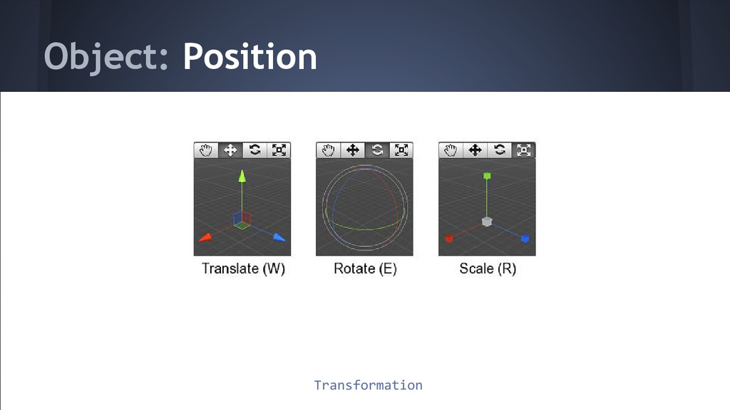 Object: Position Transformation