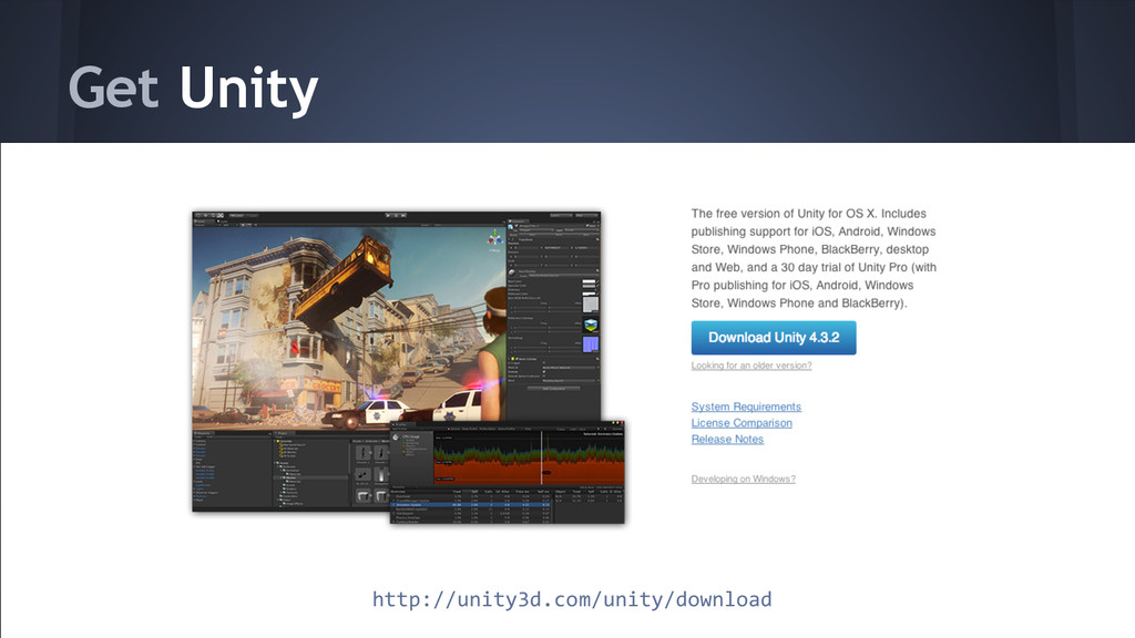 Get Unity http://unity3d.com/unity/download