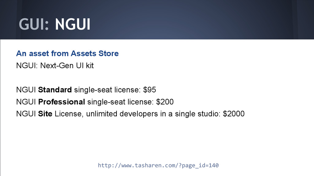 GUI: NGUI An asset from Assets Store NGUI: Next...