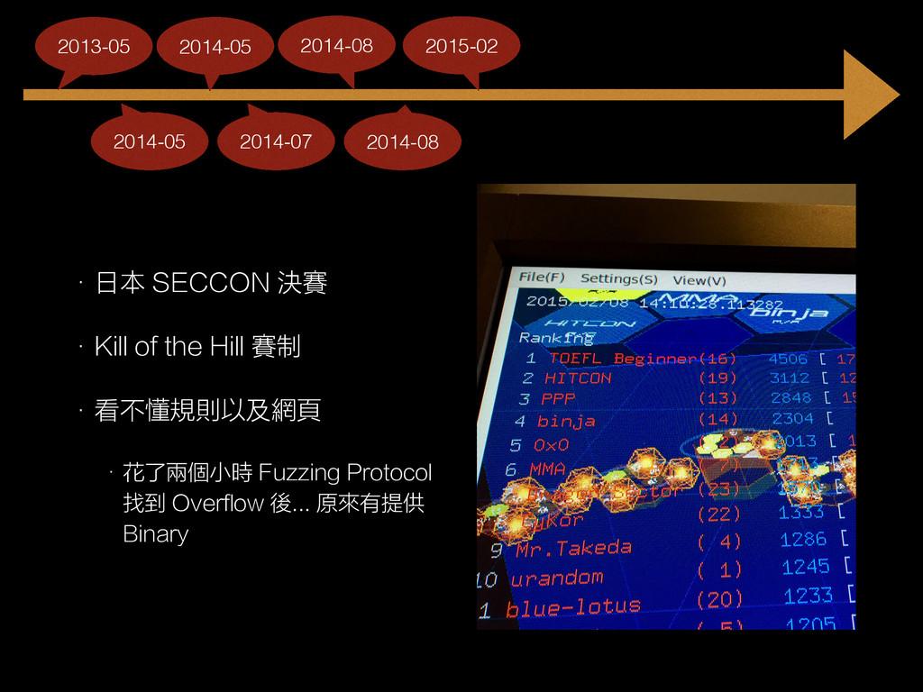 • 日本 SECCON 決賽 • Kill of the Hill 賽制 • 看不懂規則以及網...