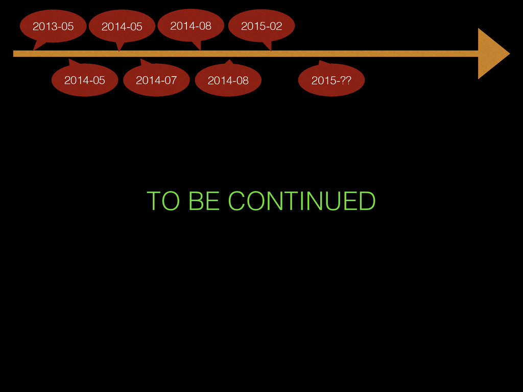 TO BE CONTINUED 2014-05 2013-05 2014-05 2014-07...
