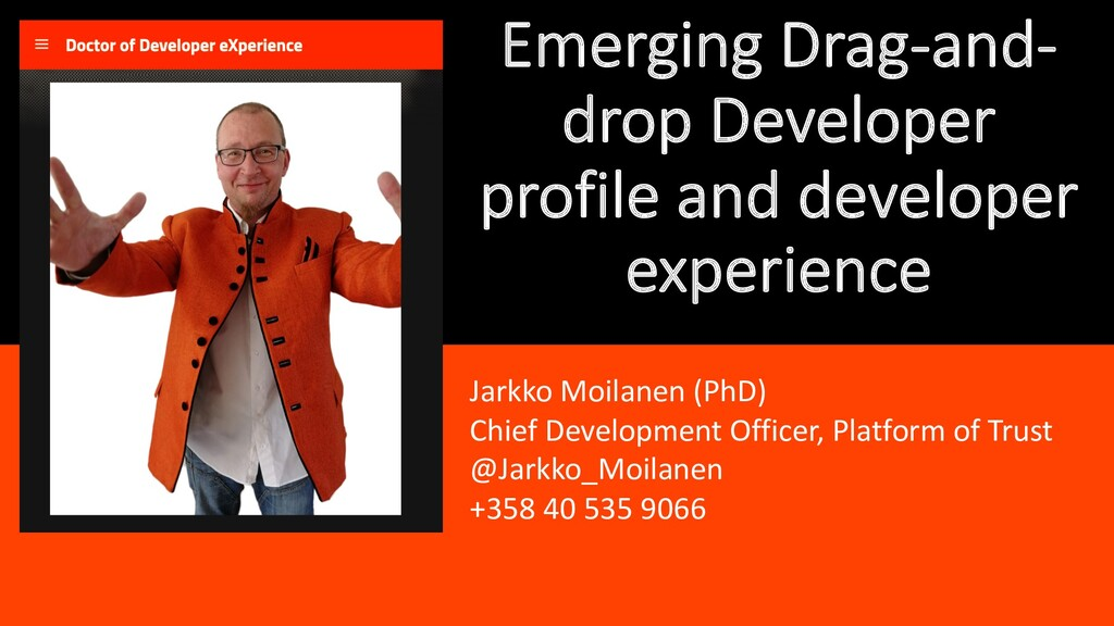 Emerging Drag-and- drop Developer profile and d...