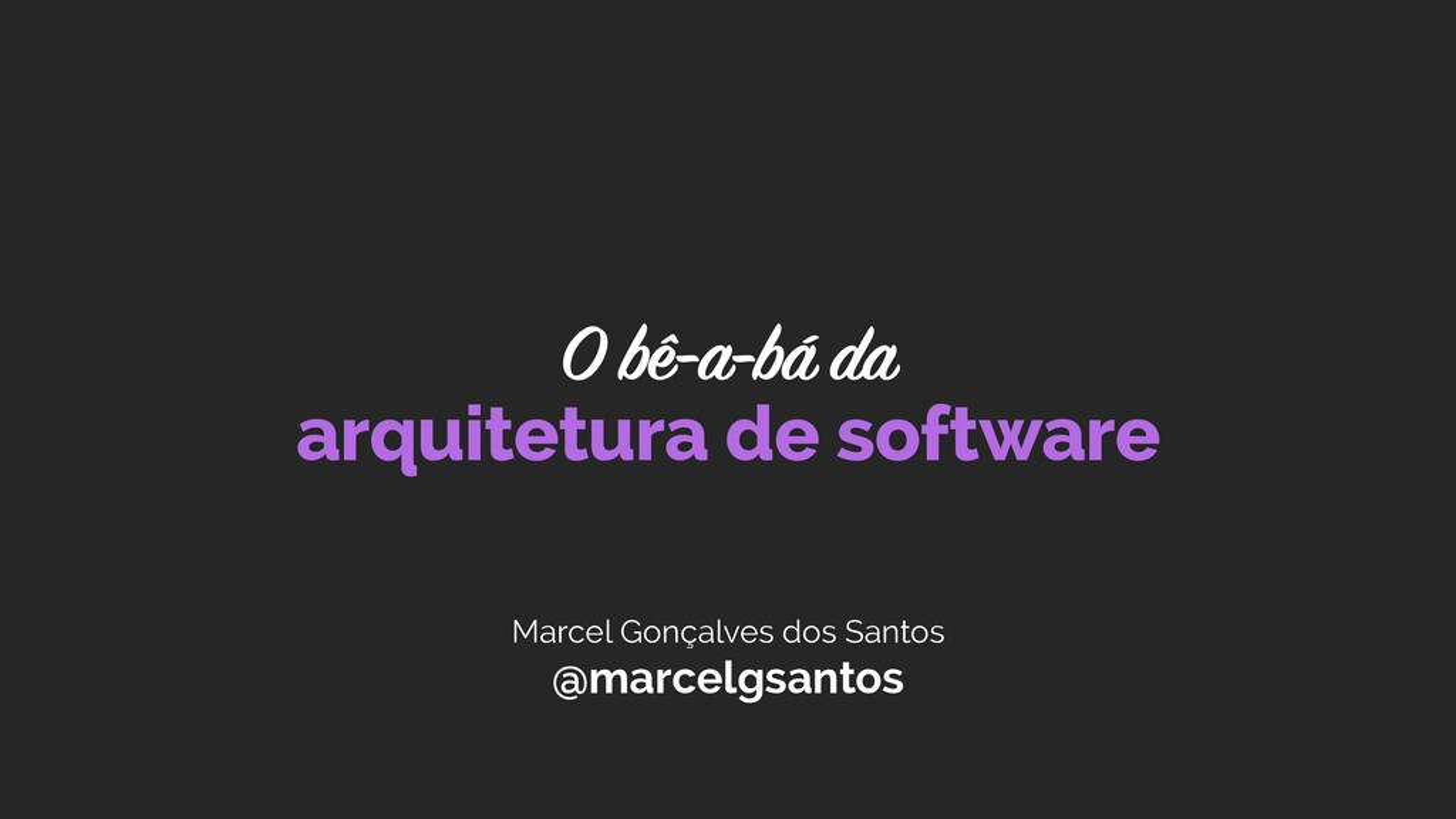 Marcel Gonçalves dos Santos @marcelgsantos arqu...