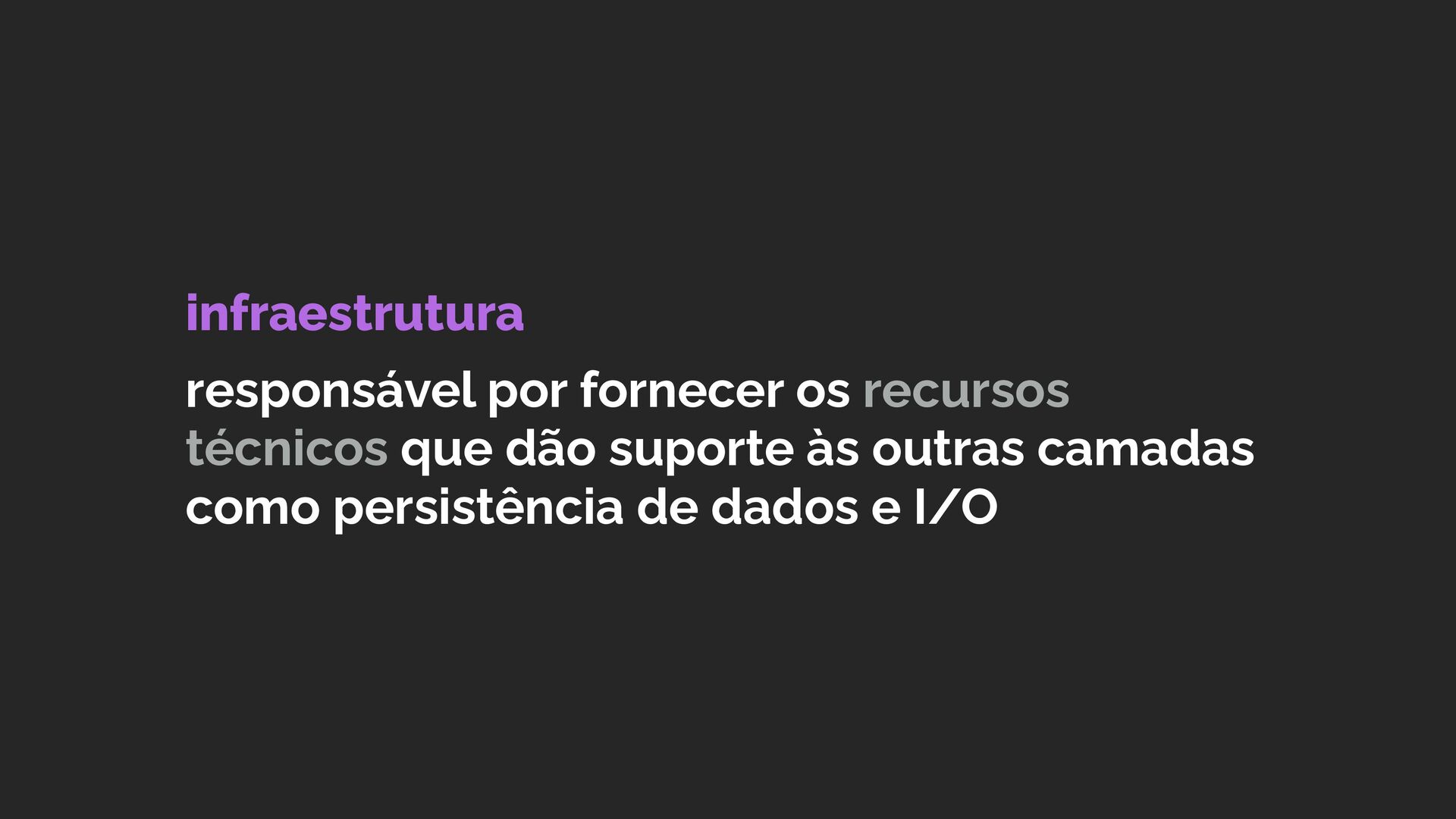 """Isolating the domain implementation is a prere..."