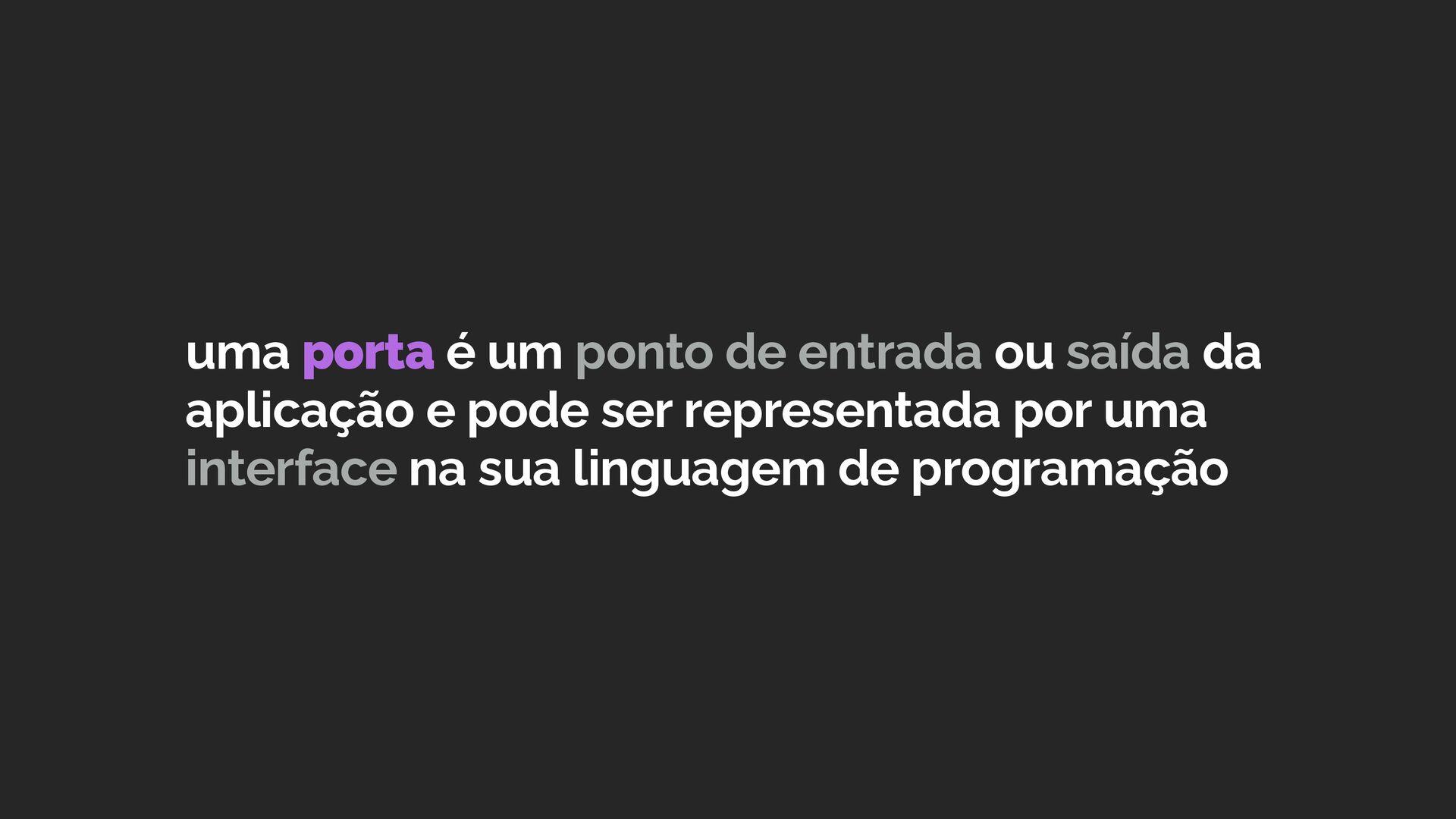 um adaptador é a implementação da comunicação d...
