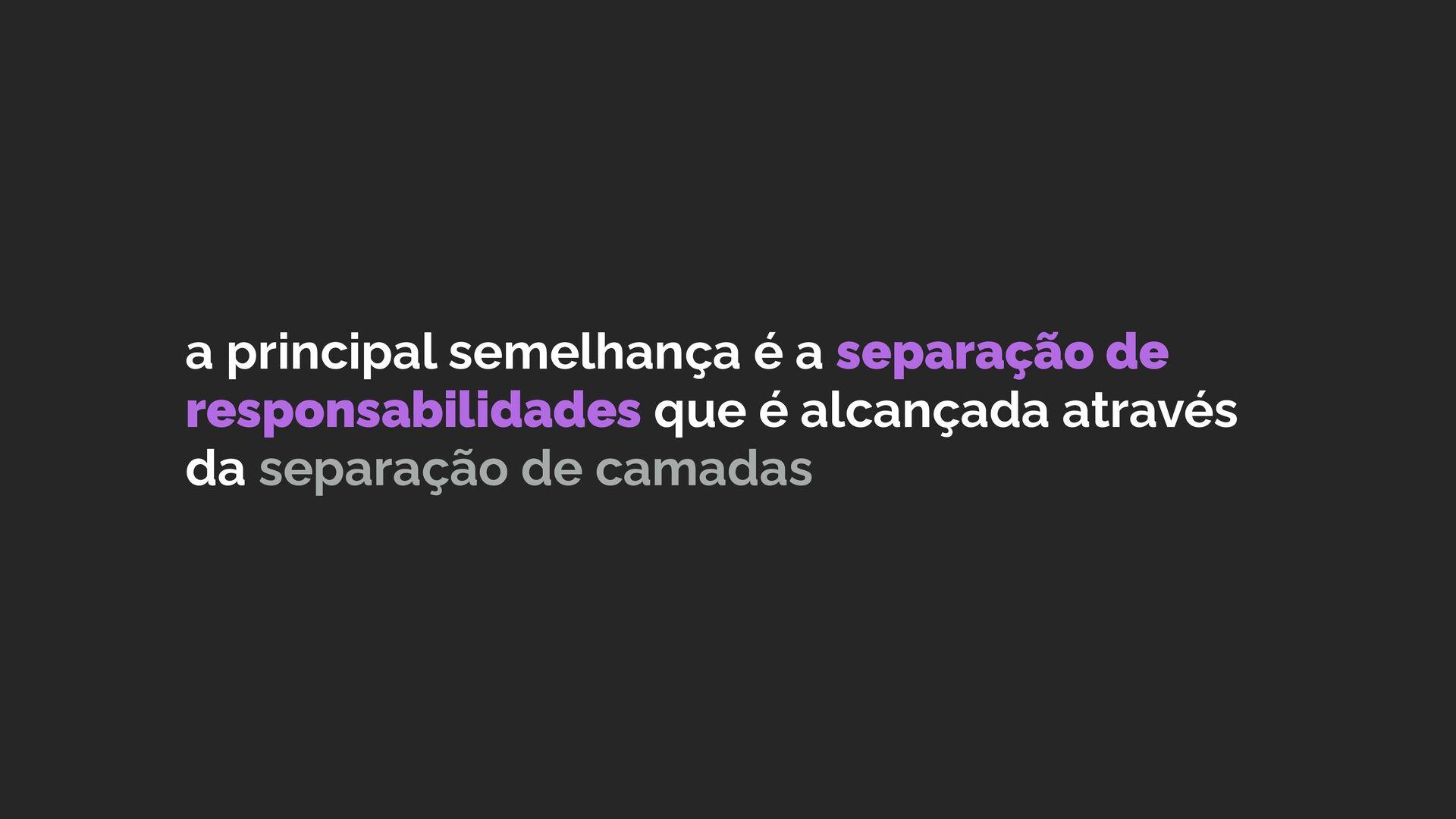 desde princípios básicos como coesão e acoplame...