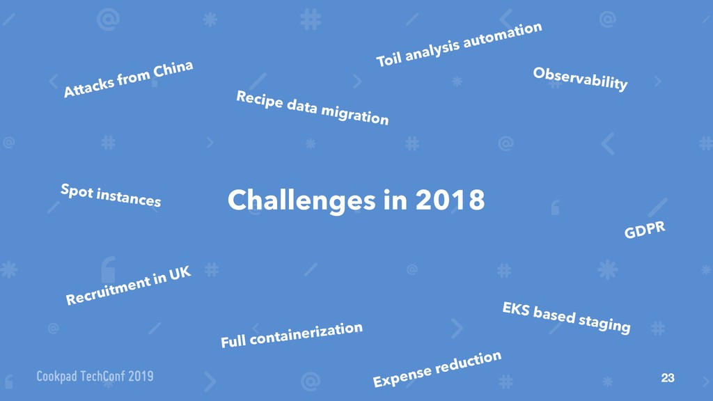 23 Challenges in 2018 Attacks from China GDPR R...