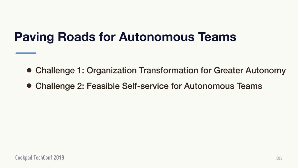 Paving Roads for Autonomous Teams 25 • Challeng...