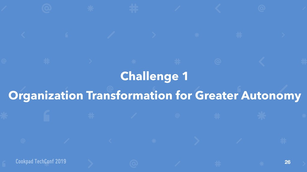Challenge 1 Organization Transformation for Gre...