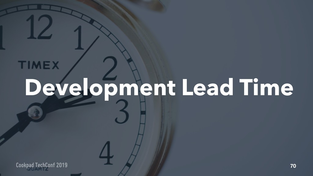 Development Lead Time 70