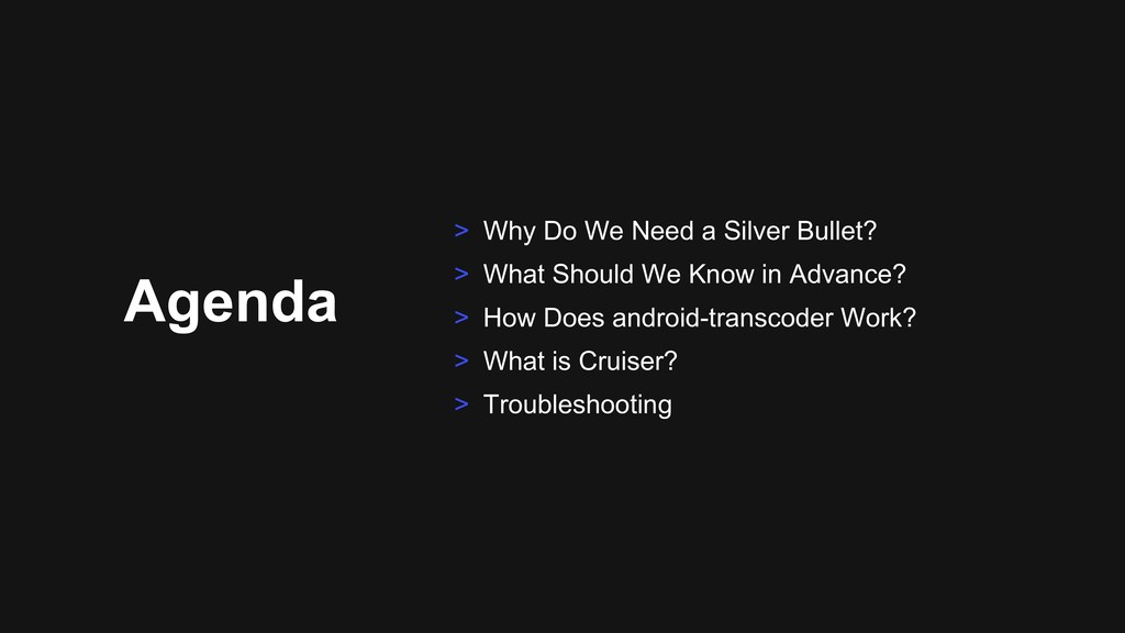 Agenda > Why Do We Need a Silver Bullet? > What...