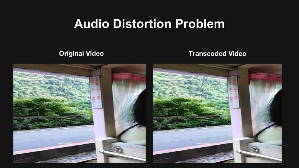 Audio Distortion Problem Original Video Transco...