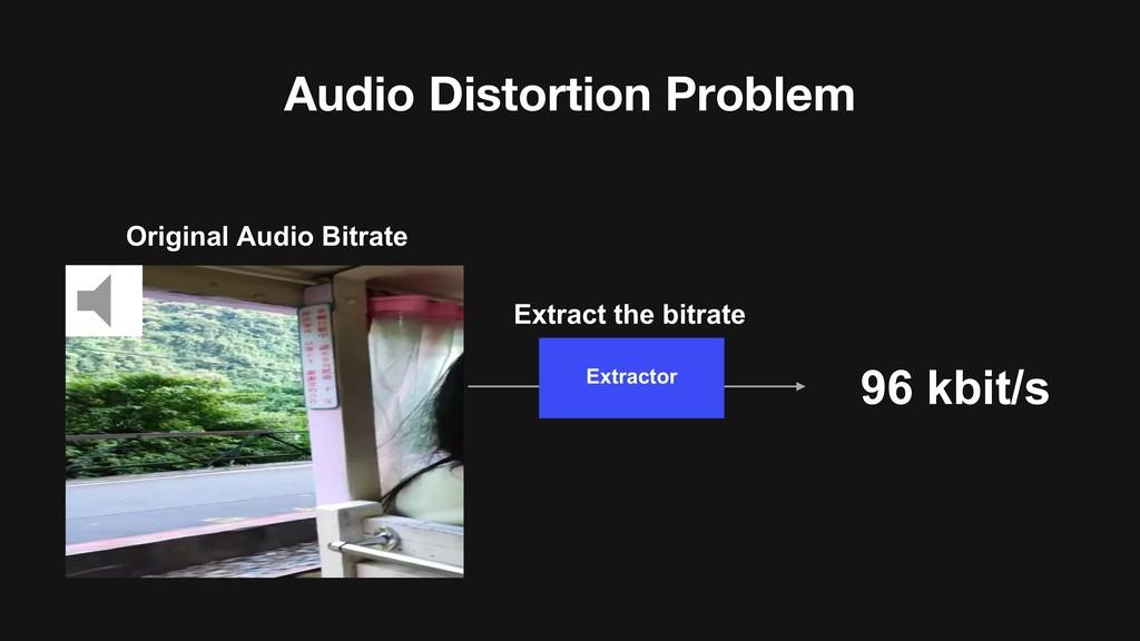Original Audio Bitrate Audio Distortion Problem...