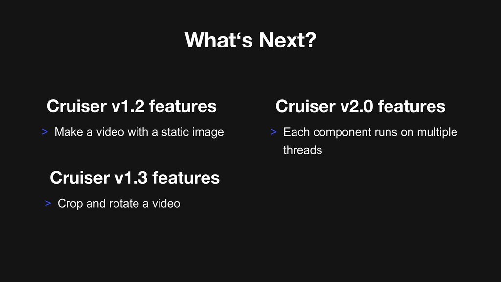 Cruiser v1.2 features > Make a video with a sta...