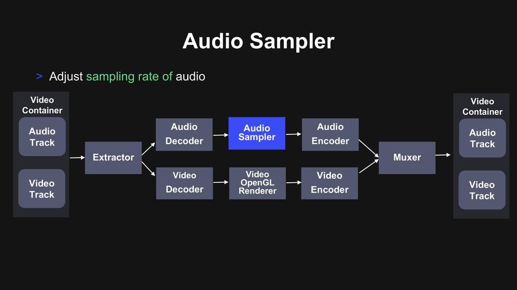 Audio Sampler Audio Sampler > Adjust sampling r...