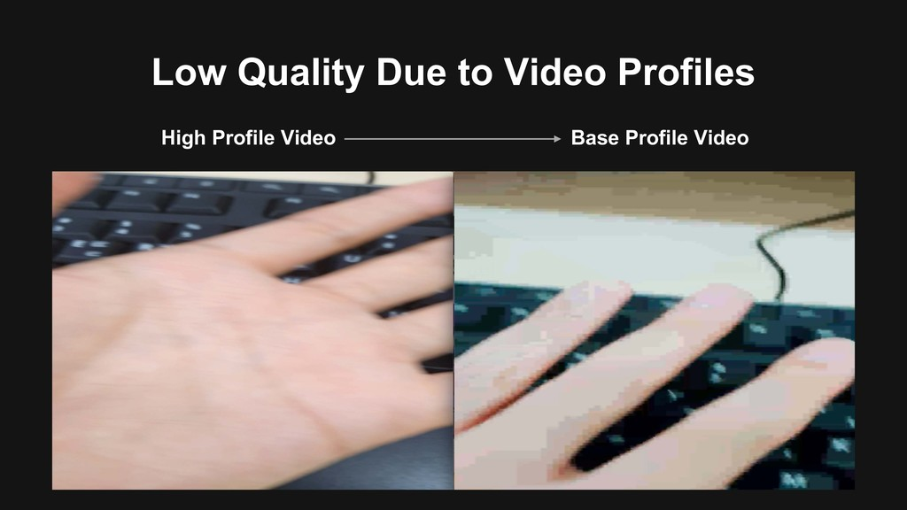 Low Quality Due to Video Profiles Base Profile ...