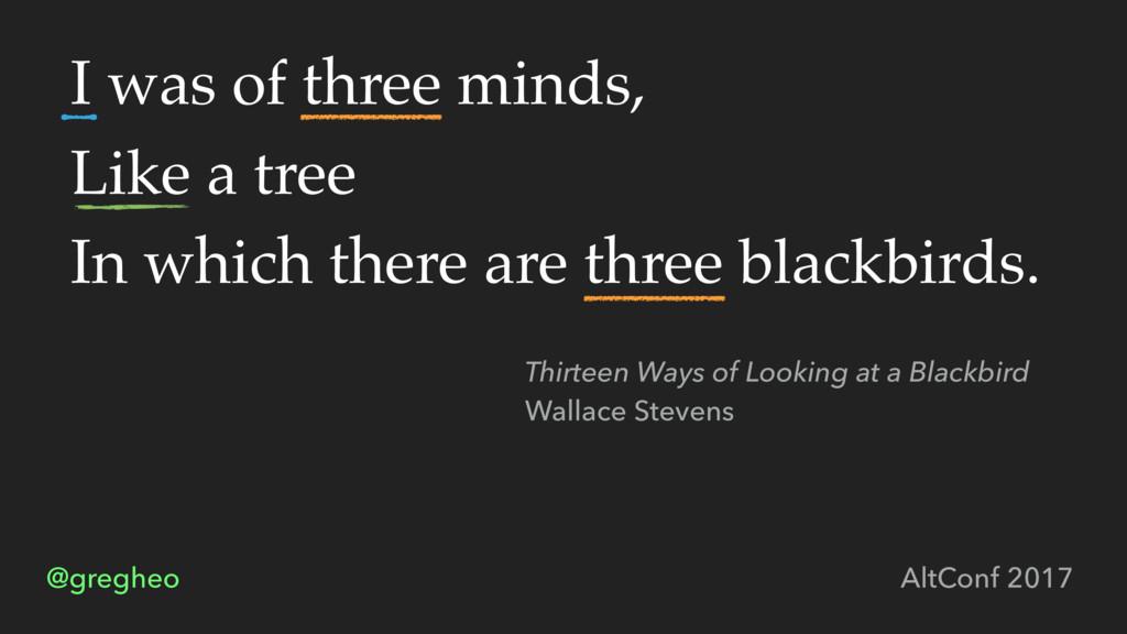 @gregheo AltConf 2017 I was of three minds, Lik...
