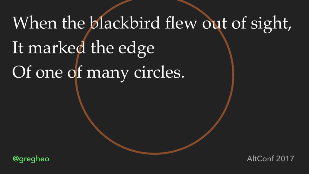 @gregheo AltConf 2017 When the blackbird flew ou...