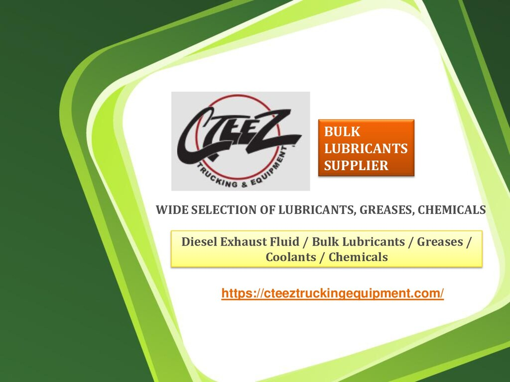 WIDE SELECTION OF LUBRICANTS, GREASES, CHEMICAL...