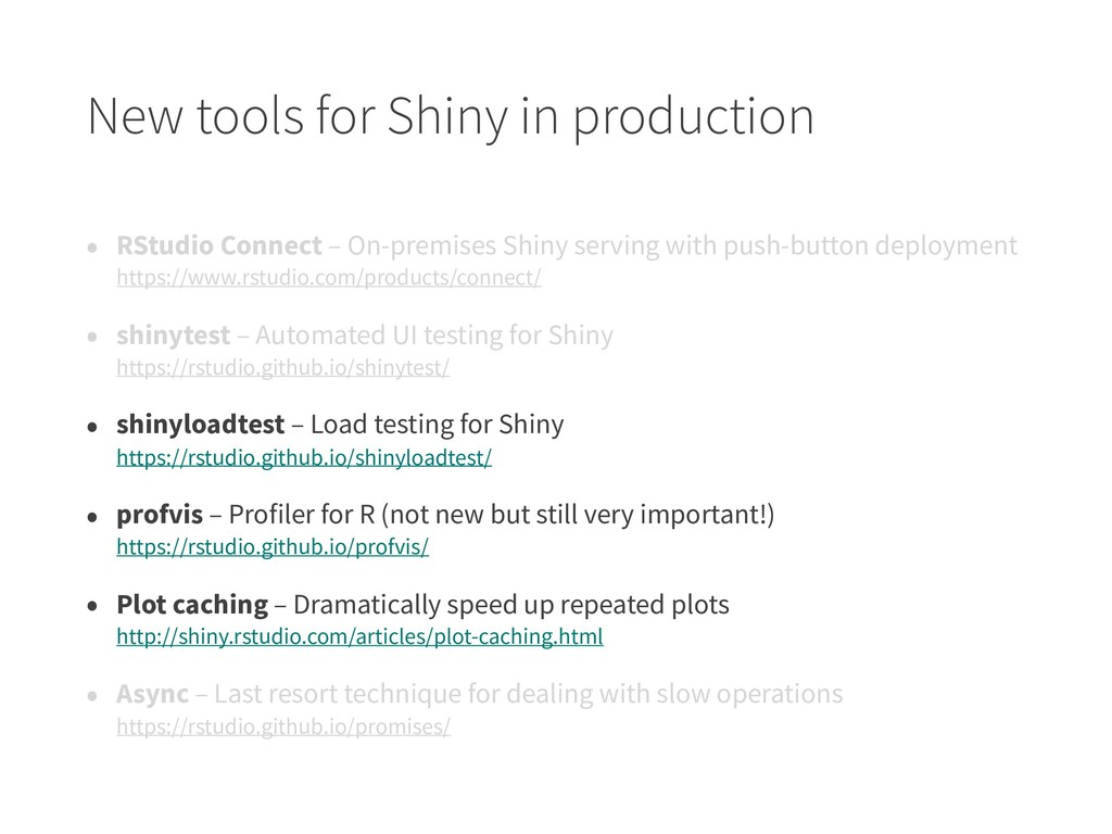 New tools for Shiny in production • RStudio Con...