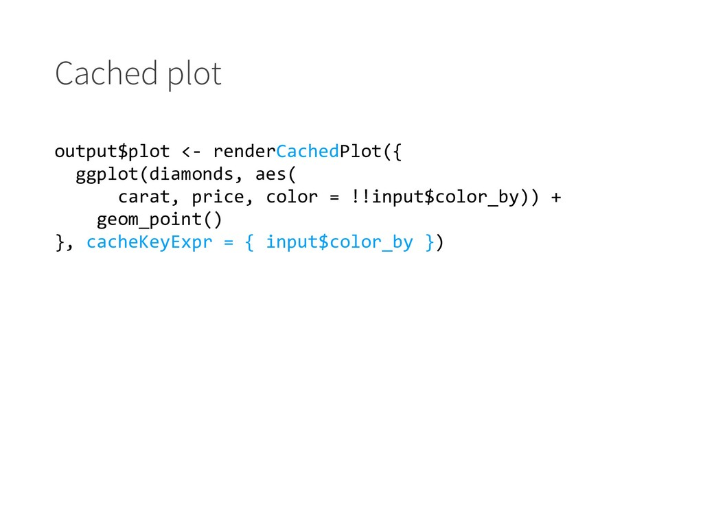 Cached plot output$plot <- renderCachedPlot({ g...