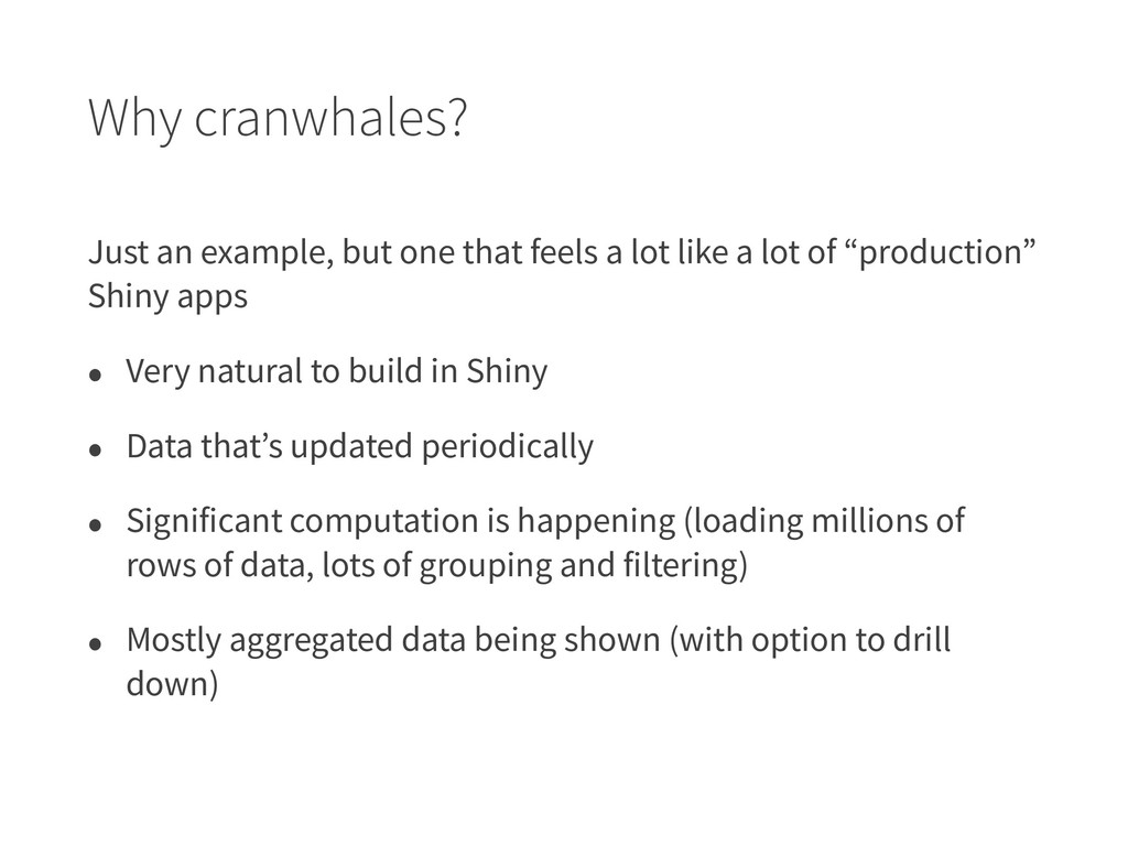 Why cranwhales? Just an example, but one that f...