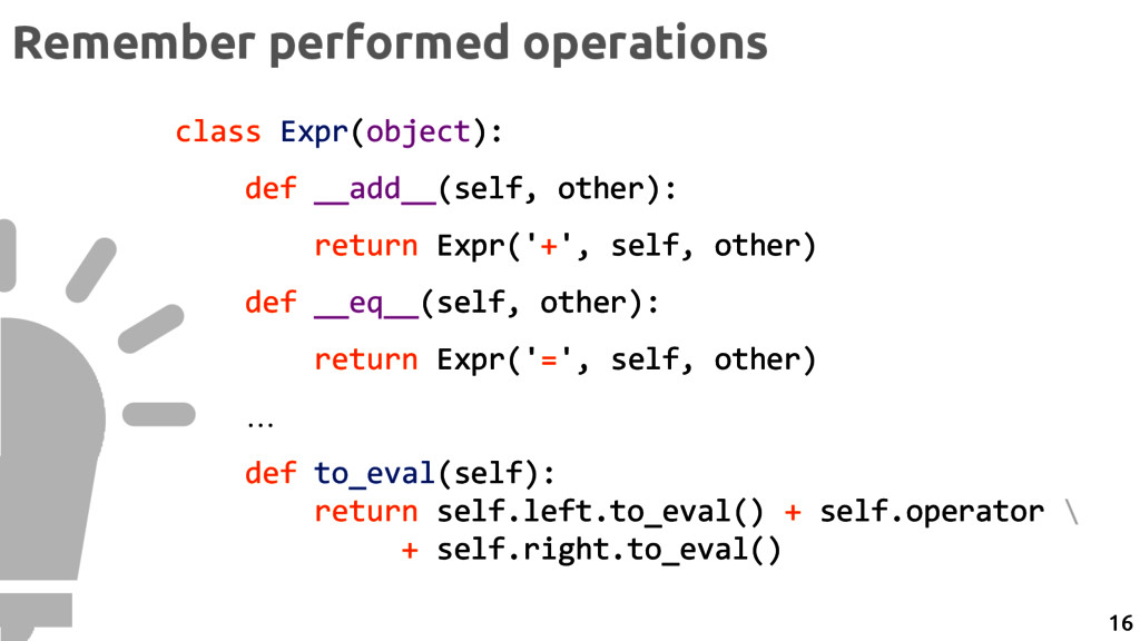 class Expr(object): def __add__(self, other): r...
