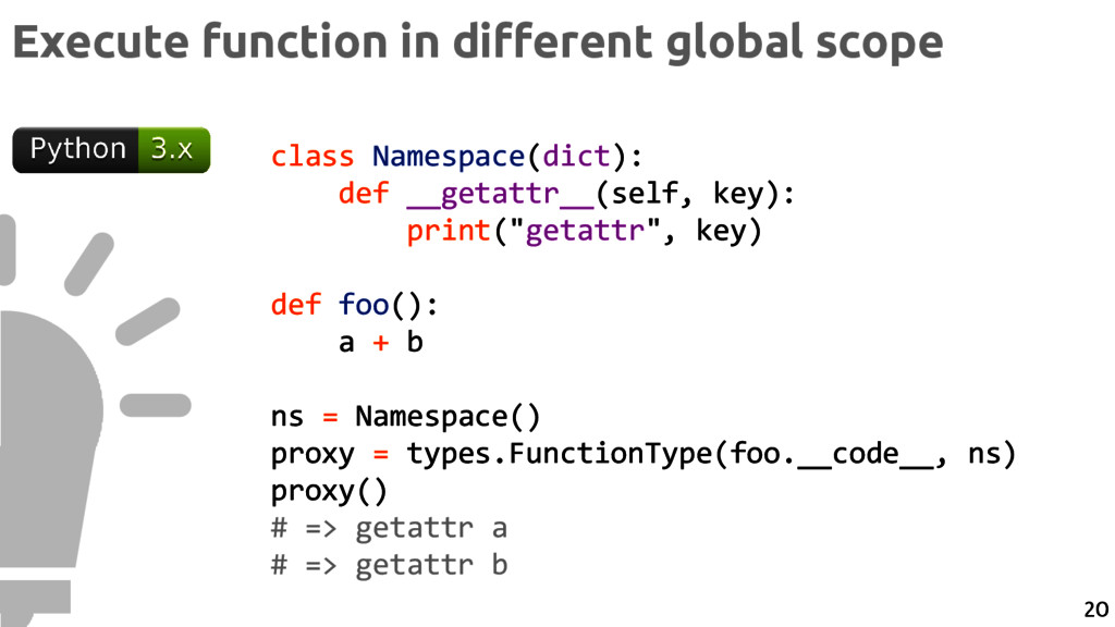 Execute function in different global scope clas...