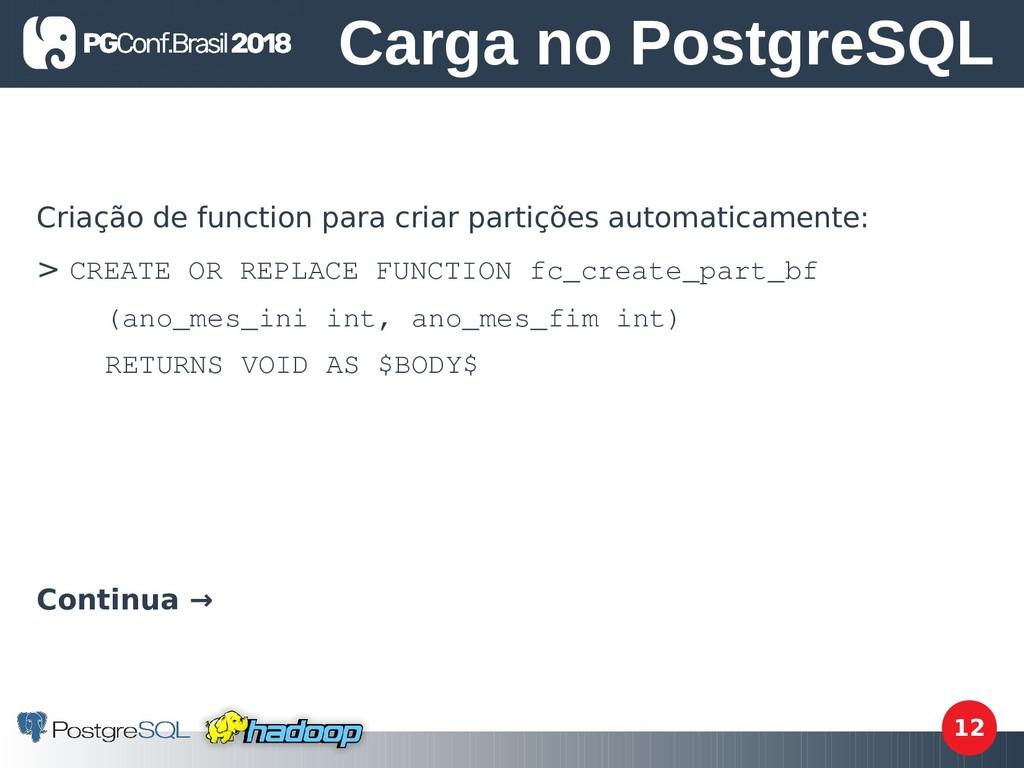 12 Criação de function para criar partições aut...