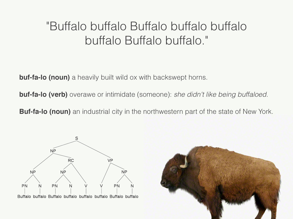 """Buffalo buffalo Buffalo buffalo buffalo buffal..."
