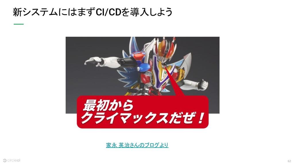 62 新システムにはまずCI/CDを導入しよう 家永 英治さんのブログより
