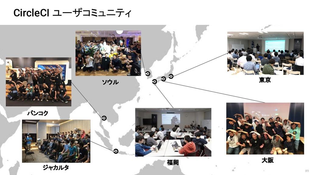 89 CircleCI ユーザコミュニティ 東京 大阪 福岡 ソウル バンコク ジャカルタ
