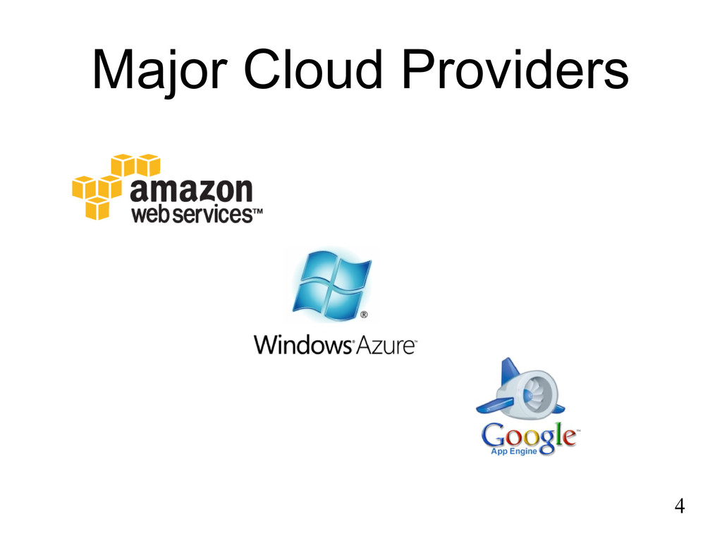 Major Cloud Providers 4