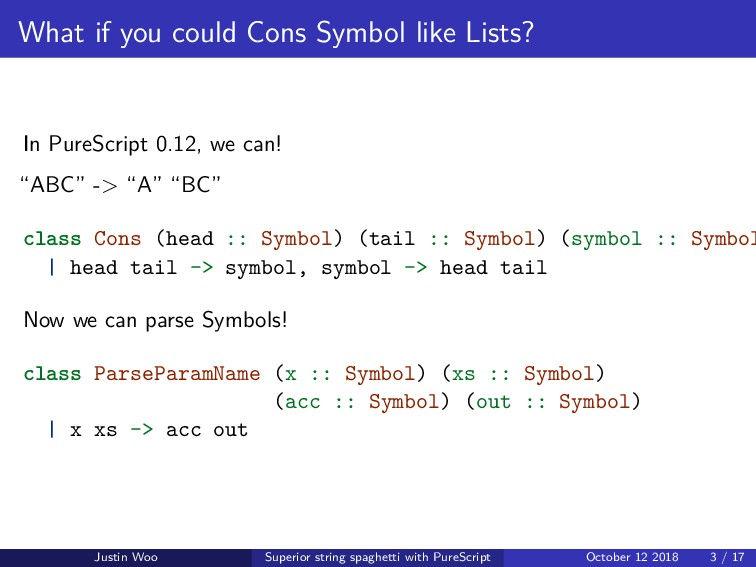 What if you could Cons Symbol like Lists? In Pu...