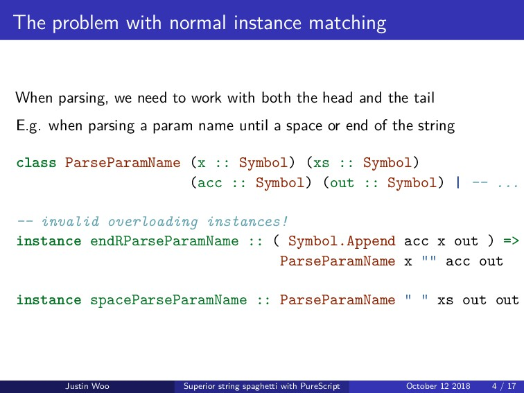 The problem with normal instance matching When ...