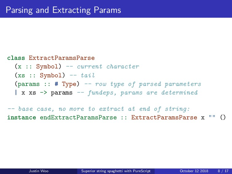 Parsing and Extracting Params class ExtractPara...