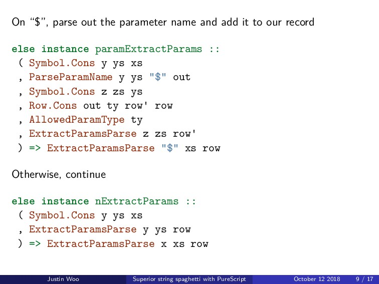 """On """"$"""", parse out the parameter name and add it..."""