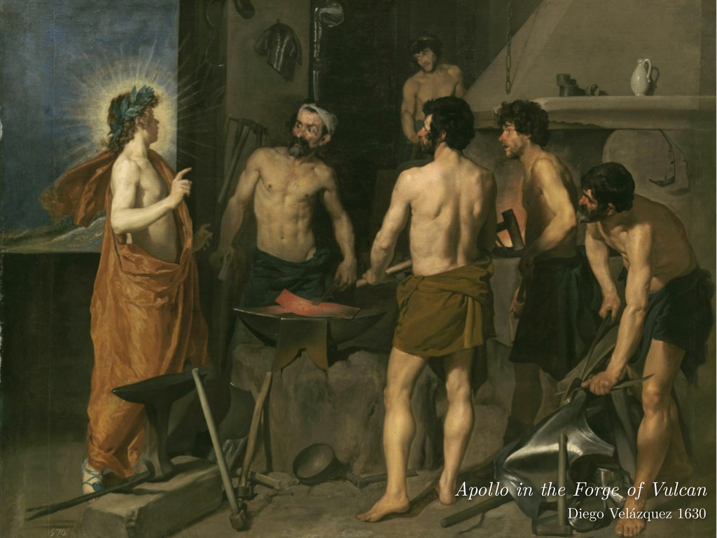 Apollo in the Forge of Vulcan Diego Velázquez ...